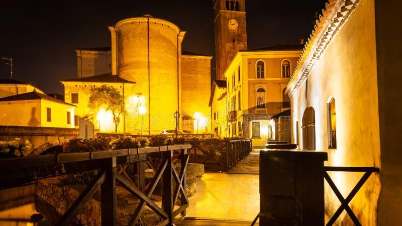 Cityscape, Portogruaro, Veneto, Itali? stock afbeeldingen