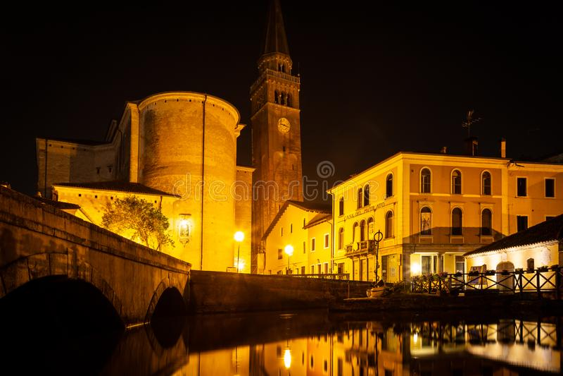 Cityscape, Portogruaro, Veneto, Itali? stock foto