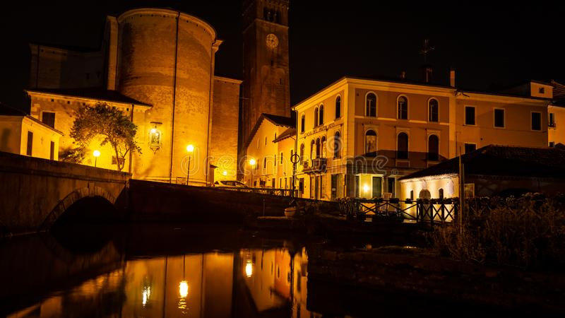 Cityscape, Portogruaro, Veneto, Itali? royalty-vrije stock foto's