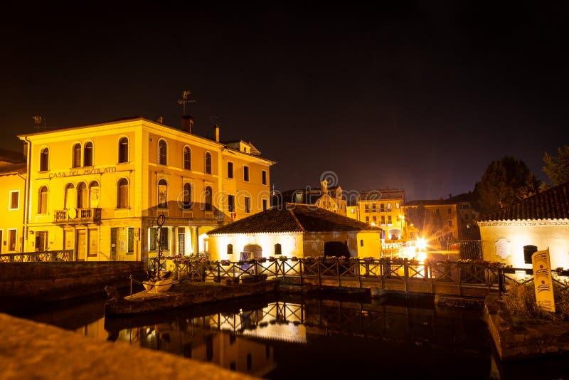 Cityscape, Portogruaro, Veneto, Itali? royalty-vrije stock fotografie