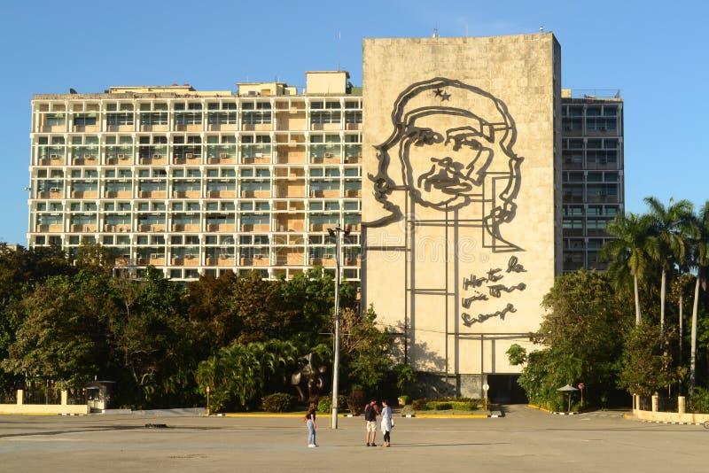 cityscape Rewolucja kwadrat przy Hawańskim, Kuba zdjęcia royalty free