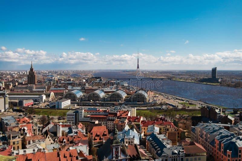 Cityscape Of Riga Stock Photo