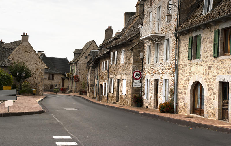 Cityscape Saint-Mamet-la-Salvetat France stock photography