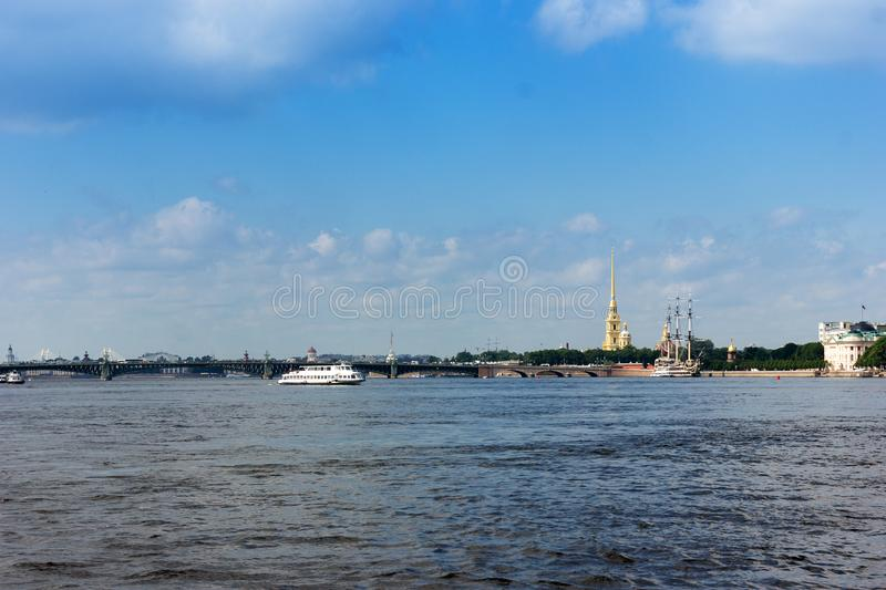 Cityscape of Saint-Petersburg. Summer cityscape of culture capital of Russia - Saint-Petersburg at sunny day royalty free stock photography