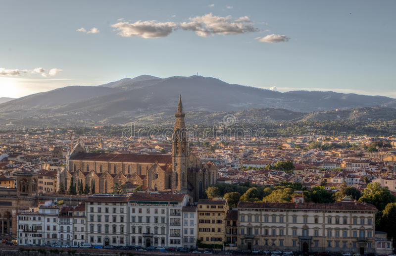 Cityscape santa croce, Florence, Firenze, Tuscany, Italy stock photos