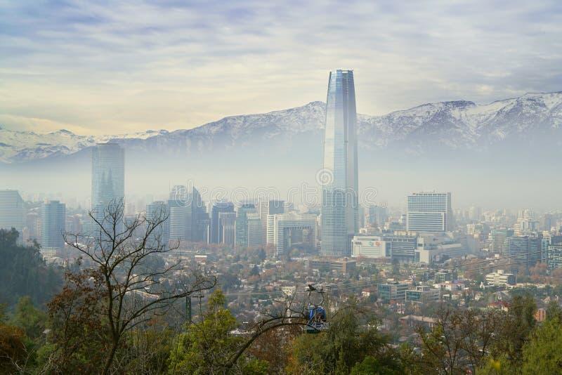 Cityscape of Santiago de Chile stock photo