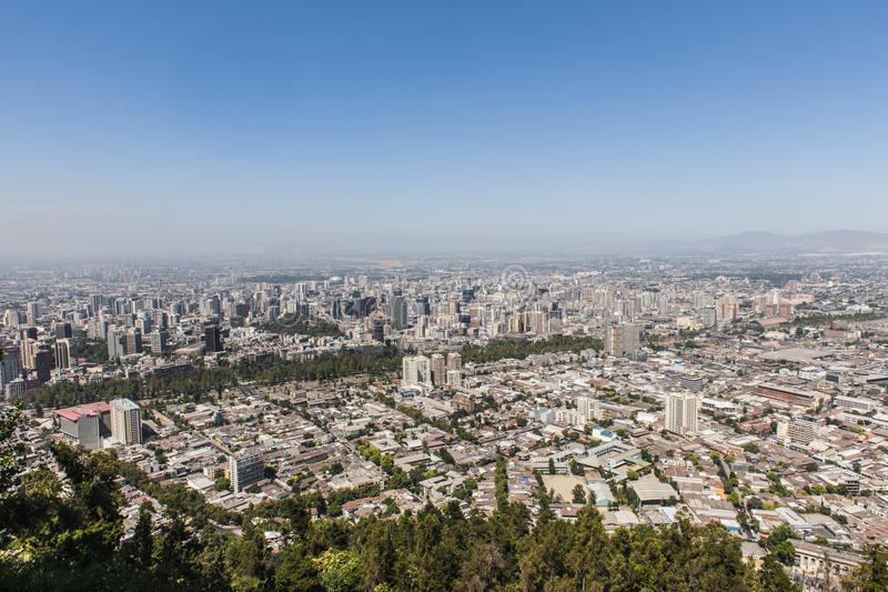 Cityscape of Santiago de Chile stock photos