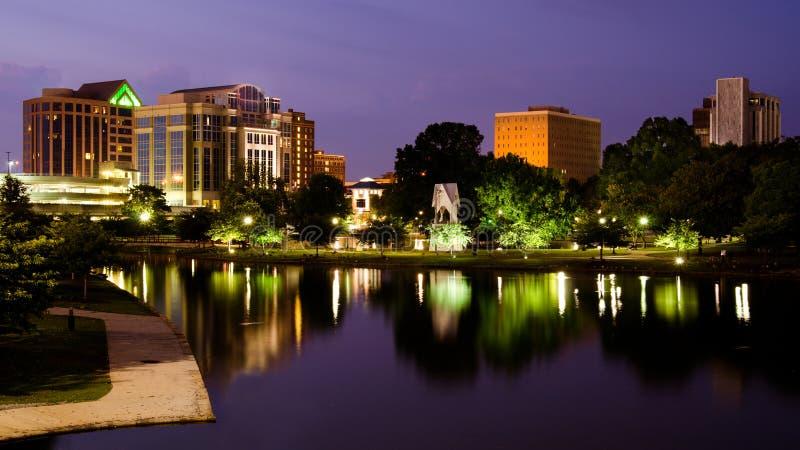 Cityscape scène van Huntsville van de binnenstad, Alabama royalty-vrije stock foto's