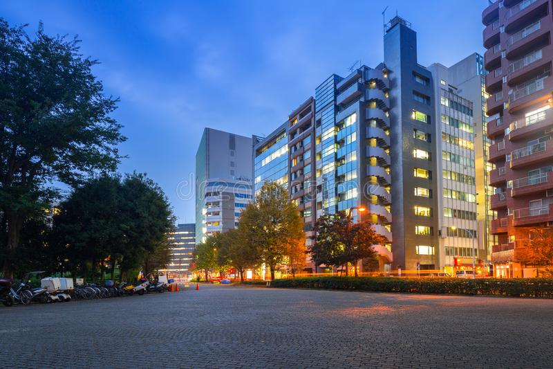 Cityscape of Shinjuku district in Tokyo royalty free stock image