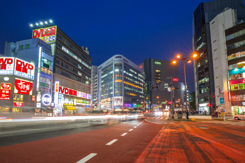 Cityscape of Shinjuku district in Tokyo, Japan royalty free stock photo