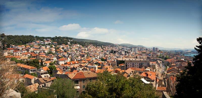 Cityscape of Sibenik, Croatia royalty free stock photography