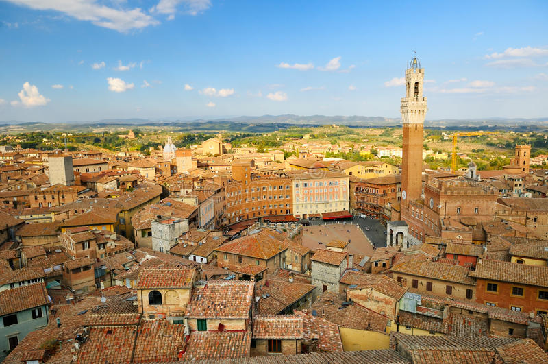 Cityscape of Siena stock images