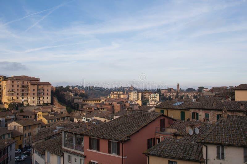 Cityscape of Siena. Tuscany, Italy. royalty free stock images