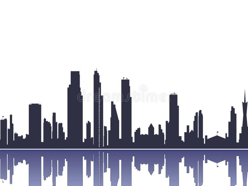 Cityscape silhouet royalty-vrije illustratie