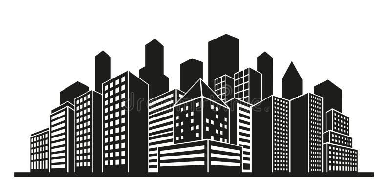 Cityscape Silhouette Vector Stock Vector - Illustration of city, skyscraper: 81135548