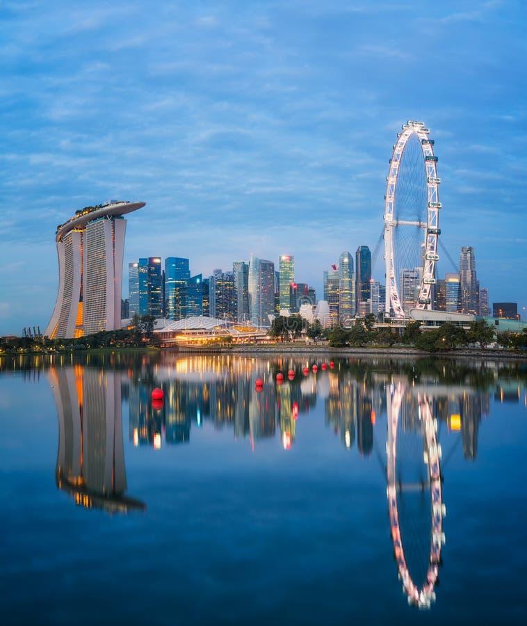 Cityscape of Singapore city royalty free stock image