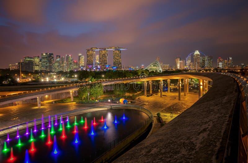 Cityscape of Singapore city stock photography