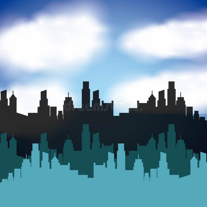 Cityscape skyline design. Illustration eps10 graphic royalty free illustration