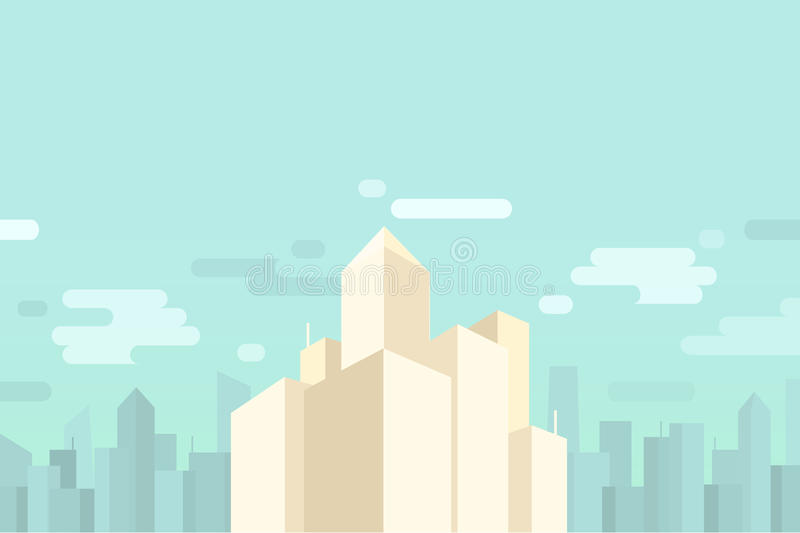 Cityscape and skyscrapers background royalty free stock images