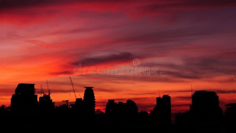 Cityscape Sunset stock photography