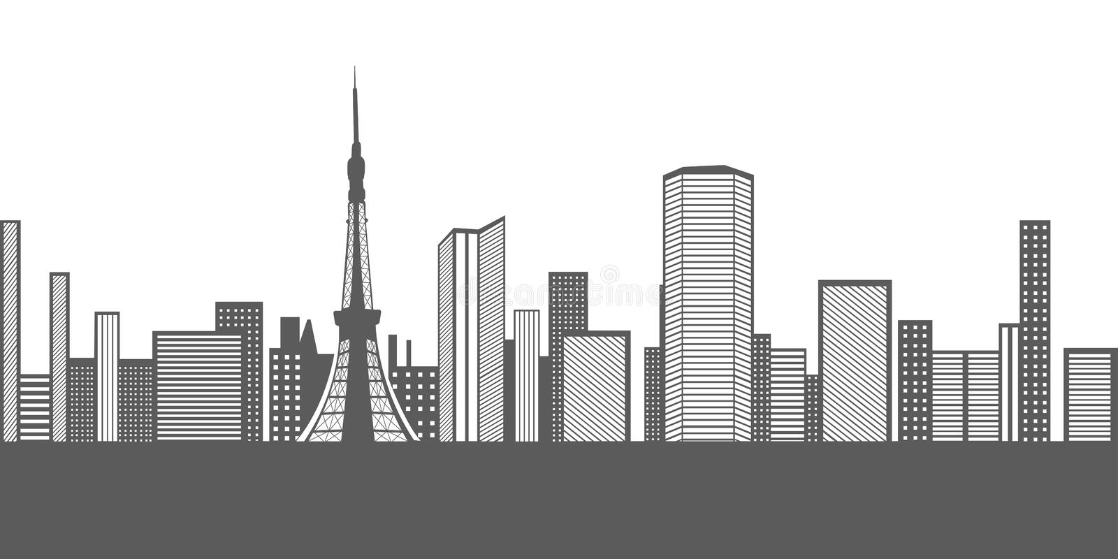 isolated tokyo cityscape stock vector illustration of clipart rh dreamstime com cityscape clipart picsart cityscape clipart/guitar & vector