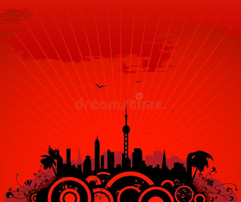 cityscape tower ελεύθερη απεικόνιση δικαιώματος