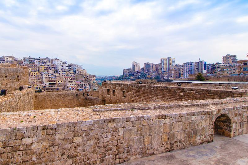 Cityscape  of Tripoli in Lebanon. Middle East royalty free stock photography