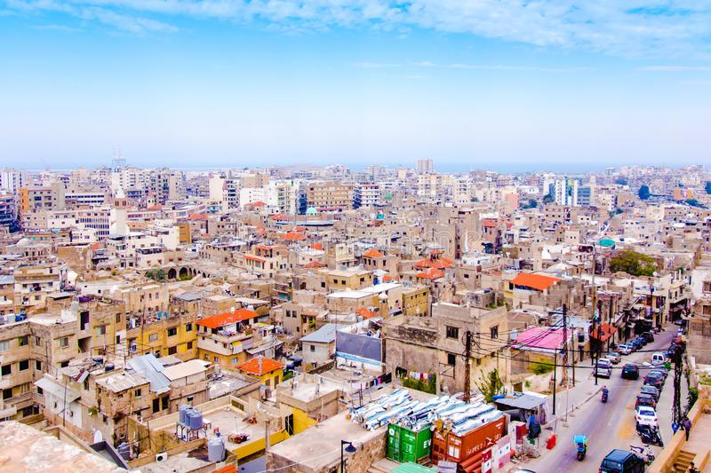 Cityscape of Tripoli in Lebanon. Middle East stock images