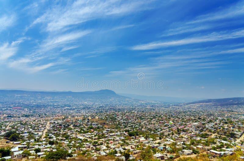 Cityscape of Tuxtla, Chiapas. A view of Tuxtla Gutierrez, the capital of Chiapas, Mexico royalty free stock photos