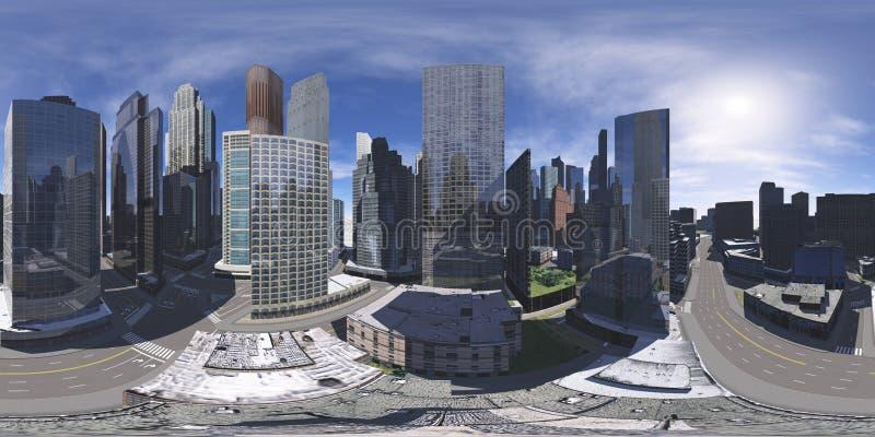 cityscape Umweltkarte HDRI-Karte stockfoto