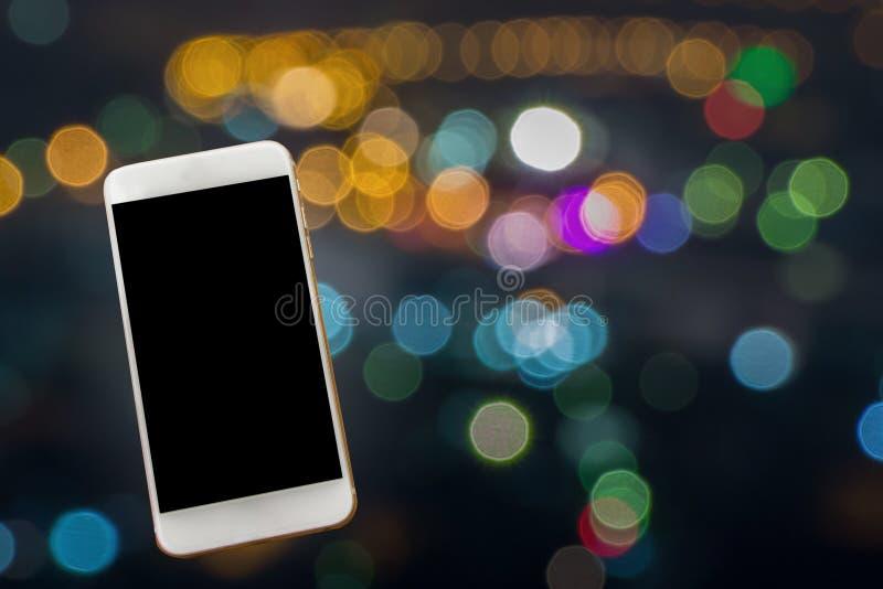 Cityscape vaag bij nacht met een aura van paranormaal en unexpl stock fotografie