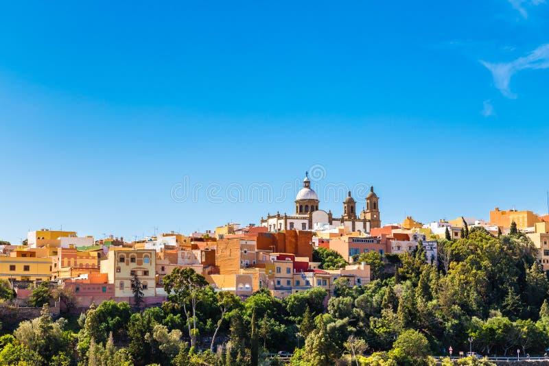 Cityscape van Aguimes, Gran Canaria, Spanje royalty-vrije stock afbeelding