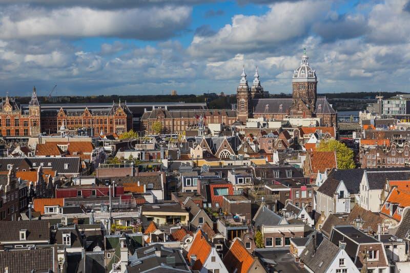 Cityscape van Amsterdam - Nederland royalty-vrije stock foto