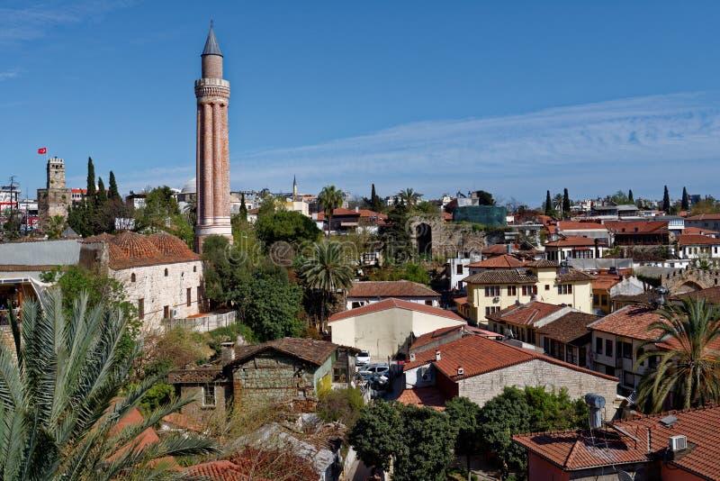 Cityscape van Antalya, Turkije stock fotografie
