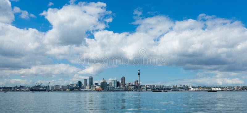 Cityscape van Auckland, het Noordeneiland, Nieuw Zeeland stock afbeelding