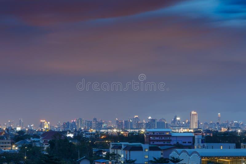 Cityscape van Bangkok stock afbeelding