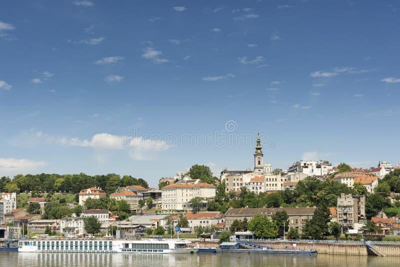 Cityscape van Belgrado, Servië stock fotografie