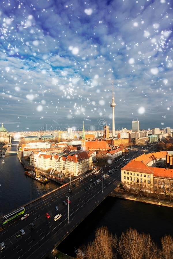 Cityscape van Berlijn, Duitsland stock foto