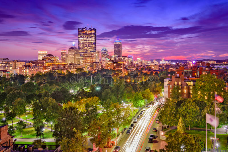 Cityscape van Boston Massachusetts stock afbeeldingen