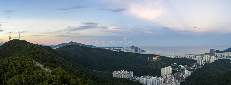 Cityscape van Busan royalty-vrije stock fotografie