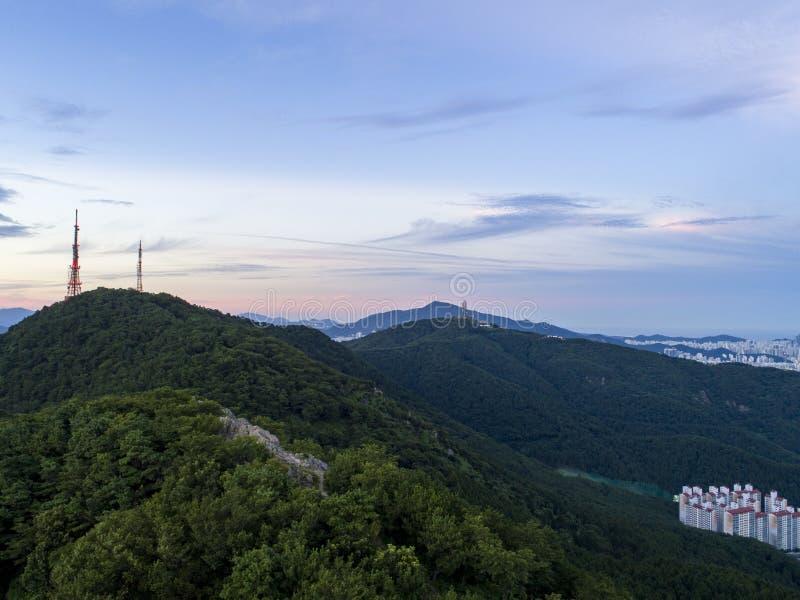 Cityscape van Busan stock foto's