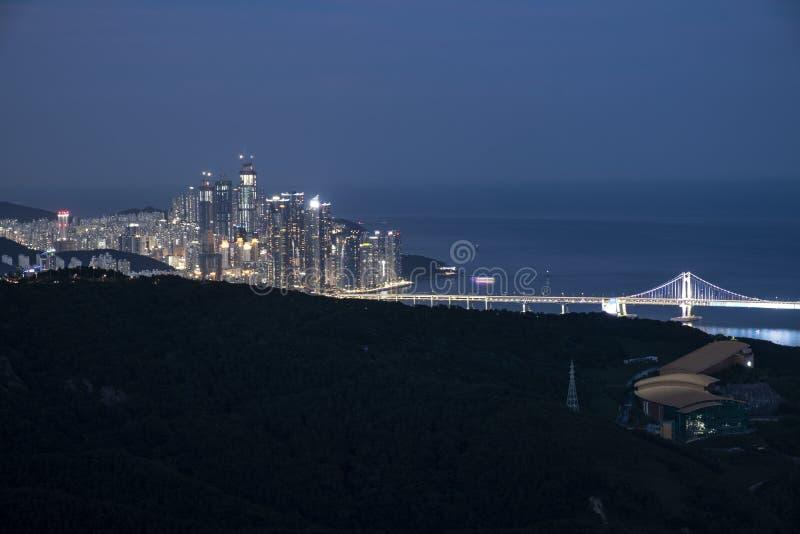 Cityscape van Busan royalty-vrije stock foto's