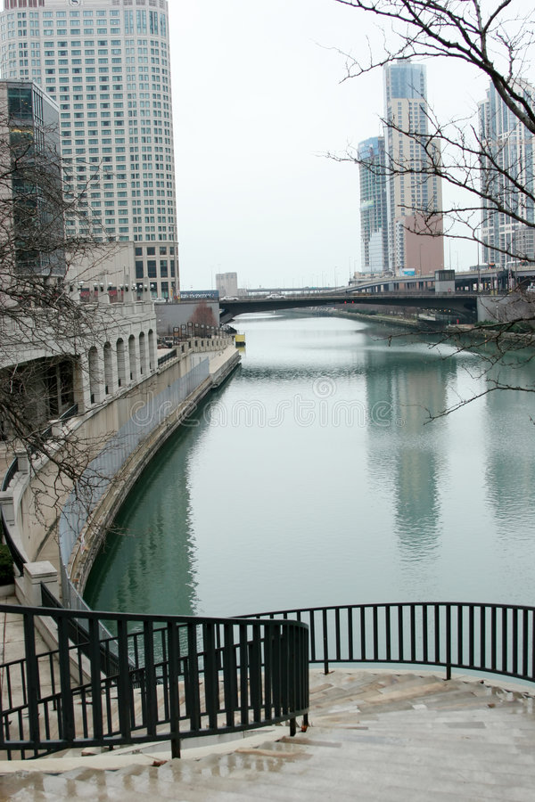 Cityscape van Chicago royalty-vrije stock foto's
