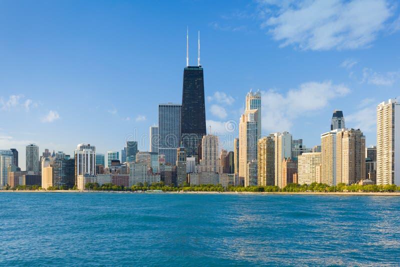 Cityscape van Chicago stock foto's