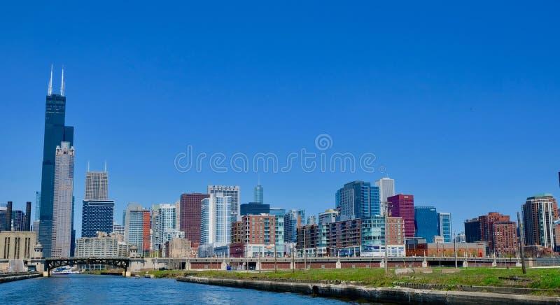 Cityscape van Chicago van het zuiden royalty-vrije stock afbeeldingen