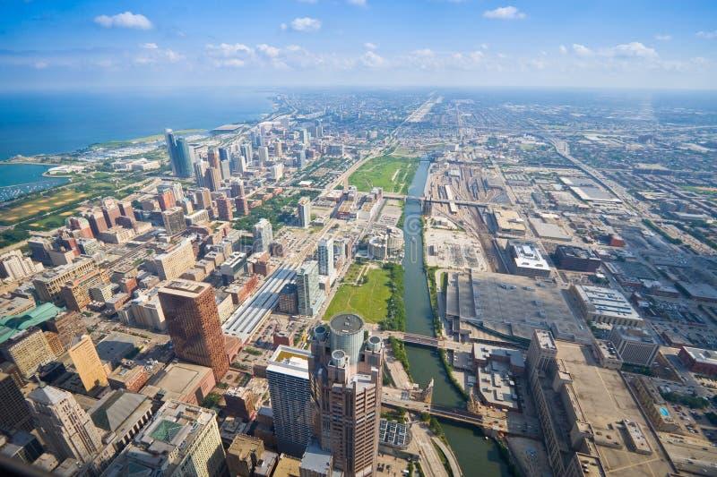 Cityscape van Chicago, Verenigde Staten stock afbeeldingen