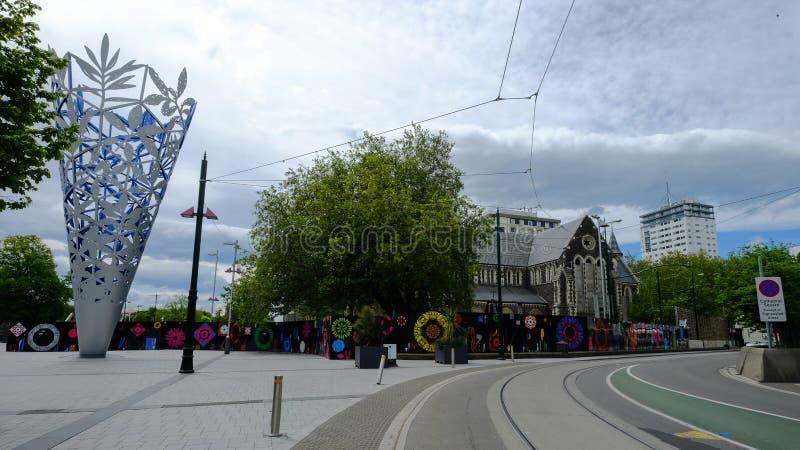 Cityscape van Christchurch, Nieuw Zeeland royalty-vrije stock afbeeldingen