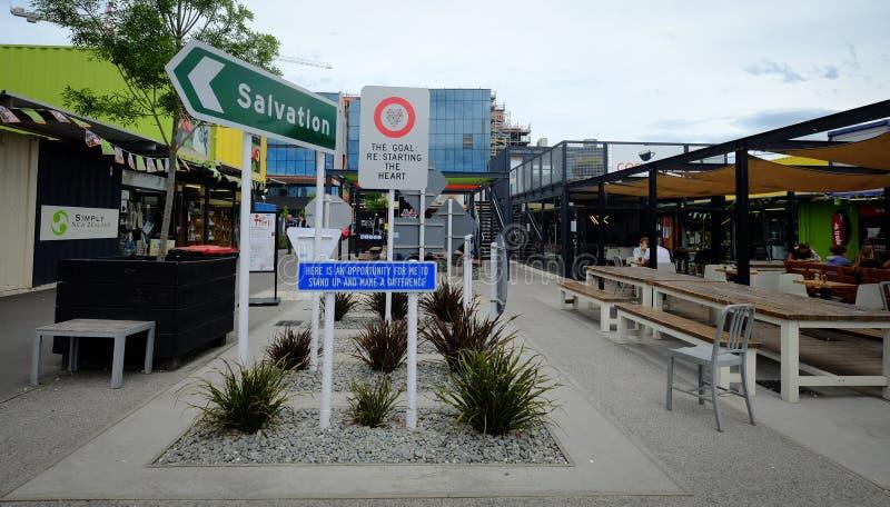 Cityscape van Christchurch, Nieuw Zeeland royalty-vrije stock foto's