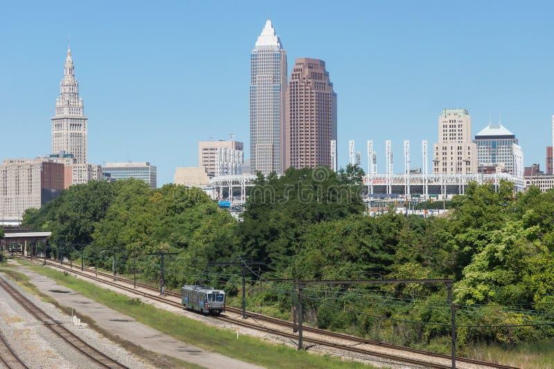 Cityscape van Cleveland royalty-vrije stock afbeeldingen