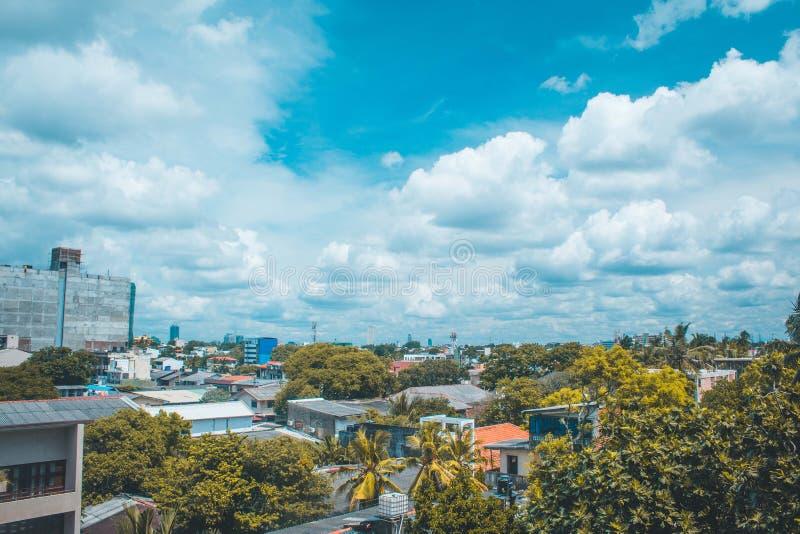 Cityscape van Colombo Sri Lanka stock afbeeldingen